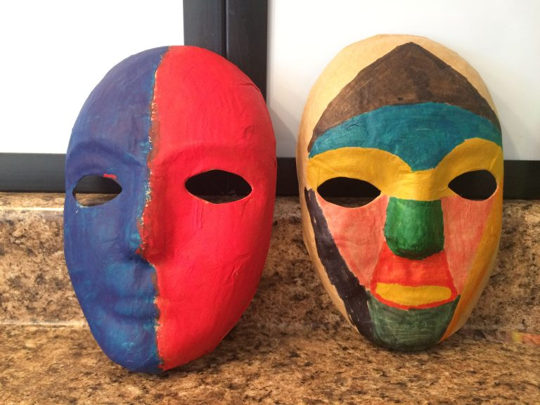 addiction art therapy 2 masks 768x576