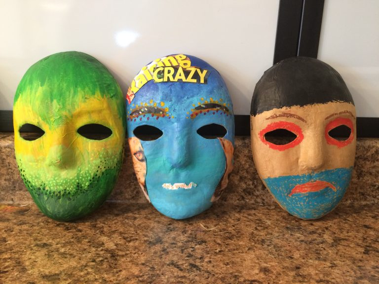 addiction art therapy 3 masks 768x576